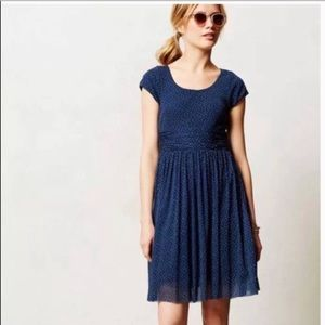 Anthropologie Weston polka dot dress
